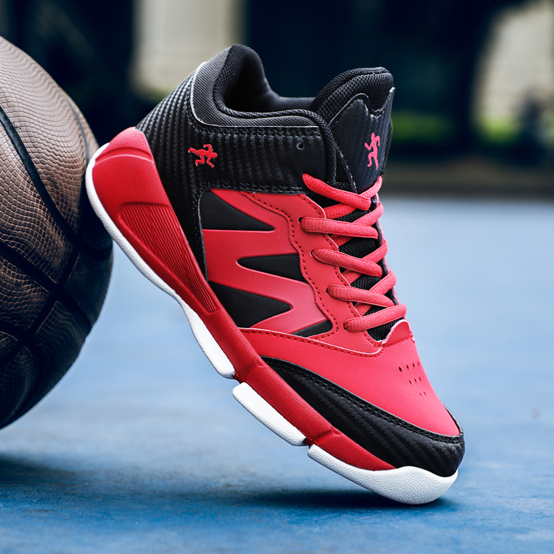 2019 New Style Boys Basketball Shoes Mesh Breathable Kids Outdoor Sneakers Children's Sport Shoes Child Trainers