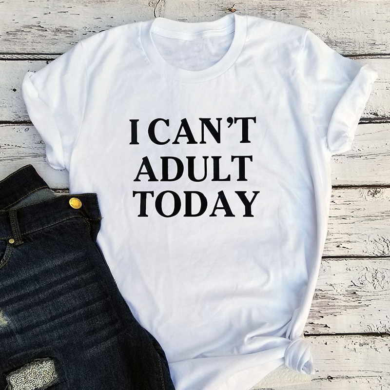 Vintage Japanese Graphic T Shirts Harajuku Letter O-Neck Casual Tops Thanksgiving 2019 Today Shirts Women 2018