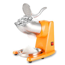 Slush-Block Grinder Breaking-Maker Ice-Crusher Snow-Cone Electric Stainless-Steel Double-Blade
