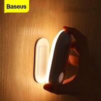 Baseus-Lámpara LED de pared con Sensor de movimiento PIR para interiores, candelabro de inducción humana para entrada y pasillo, luz nocturna para escaleras, dormitorio y casa