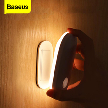 Baseus LED מקורה אור קיר מנורת PIR חיישן תנועת אדם אינדוקציה כניסה & מעבר פמוט לילה אור למדרגות בית שינה