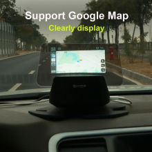 Eanop M60 Hud Head-Up Display Auto Speed Voorruit Projector Voice Call Ondersteuning Navigatie Carplay Android Auto Google Map