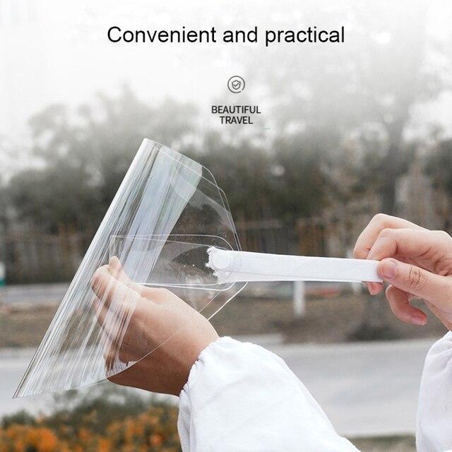 Protective Full Face Mask PET Anti-Saliva Splash Goggles Anti-Spitting Anti-Fog Face Shields Mask Protect Yourself From Virus 2