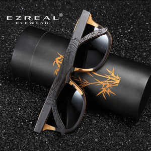 Image 3 - EZREALหรูหราแว่นกันแดดVintageสีดำกรอบแว่นตากันแดดไม้แว่นตากันแดดPolarizedผู้ชายแว่นตากันแดดไม้ไผ่