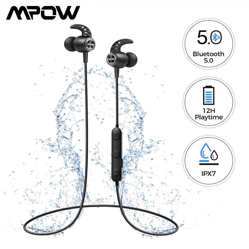 MPOW S16 магнитные беспроводные наушники IPX7 водонепроницаемые Bluetooth 5,0 спортивные наушники с 12 часов воспроизведения для iPhone 11 Xiaomi Samsung