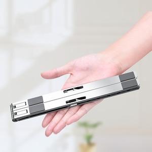 Soporte portátil ajustable en altura, nuevo soporte de aleación de aluminio para ordenador, escritorio, baño, accesorios, Ipad, soporte plegable para sofá cama
