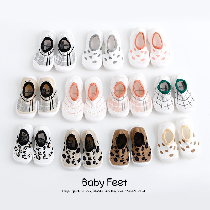 Kid Baby First Walkers Leopard Print Shoes Infant Toddler Shoes Girls Boy Casual Mesh  Soft Bottom Comfortable Non-slip Shoes