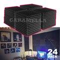 24 шт. 300x300x25 мм студийная акустическая панель поролоновая звуковая пена звукоизоляция Защитная губка Звукопоглощающая Панель для обработки