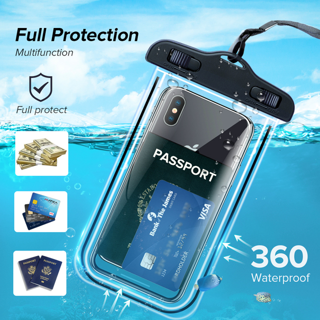 INIU IP68 Universal Waterproof Phone Case Water Proof Bag Mobile Cover For iPhone 12 11 Pro Max 8 7 POCO x3 Xiaomi Redmi Samsung 4