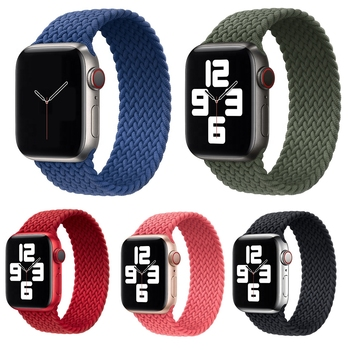 nylon braided solo loop for apple watch band 6 5 3 bands 44mm 40mm 38mm 42mm elastic strap bracelet for iwatch series 6 5 4 2 1 Strap For Apple Watch band 44mm 40mm 38mm 42mm Braided Solo Loop Nylon Elastic Replacement Bracelet for iWatch Series 6 SE 5 4 3