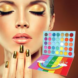 35 Color Eye-shadows Matte Neon Eyeshadow Pallete Colorful Brighten Makeup Eye Shadow Pallete Waterproof Pallete Female Rainbow