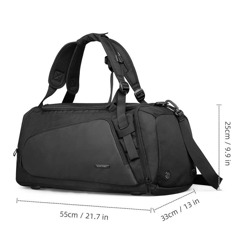 Мужская дорожная сумка Mark Ryden, большая и вместительная черная сумка для путешествий, водонепроницаемая, через плечо, 2019