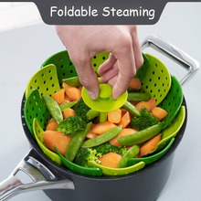 Plastic Lotus Steaming Tray Multi-Function Changeable Fruit Tray Retractable Folding Magic Steamer Tray Steaming Rack Cookware