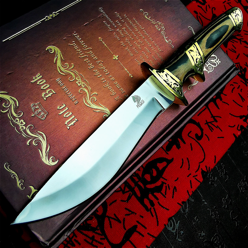 Sharp Original  HRC Outdoor Straight Knife Knife 60 Specifies Knife Steel 9CR18MOV Finnish Tactical The Hunter Hunting