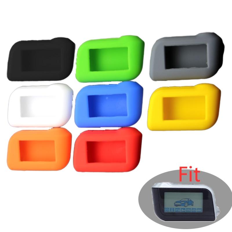 Housse de clefs en silicone pour StarLine A39 A96 A93 A36 A63 système d'alarme de voiture 2 voies LCD Gel de silice télécommande porte-clés couverture