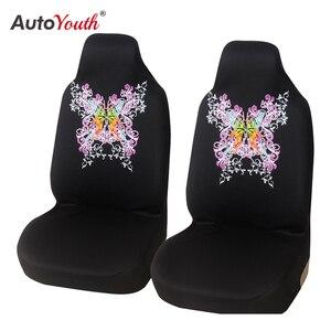 Чехлы для автомобильных сидений AUTOYOUTH, универсальные чехлы для большинства автомобилей с Новым Рисунком бабочки, стильные Защитные чехлы д...