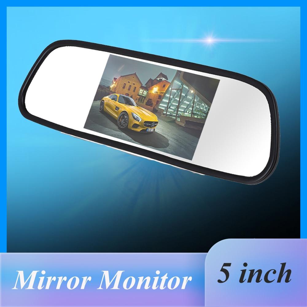 5 pollici HD Vista Posteriore Car Interior Specchio Monitor 2CH Ingresso Video Ad Alta Risoluzione 800*480 DC 12V angolo di Auto Retrovisore Monitor Dello Specchio