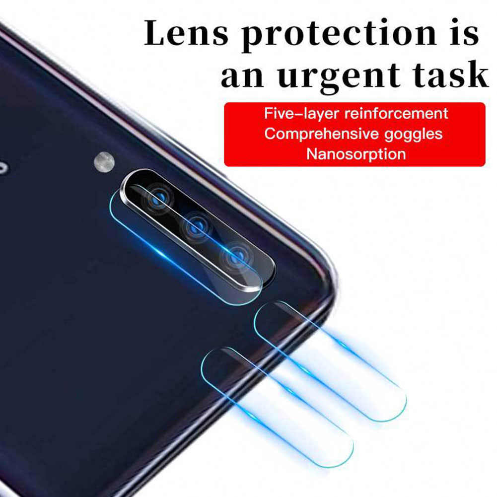 Camera Practical Phone Wear Resistant Lens Protective Film Straight Edge Mirror Surface Tempered Glass for Samsung  A50