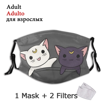 Pocket Lunar Duo Non-Disposable Mouth Face Mask Sailor Moon Anti Haze Dust Mask With Filters Protection Mask Respirator Muffle