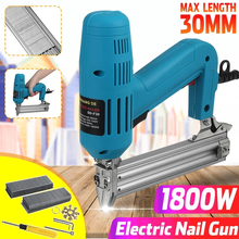 1800W Multifunctional Electric Straight Nail Staple Guns Heavy-Duty Woodworking Furniture Staple Machine Power Tools