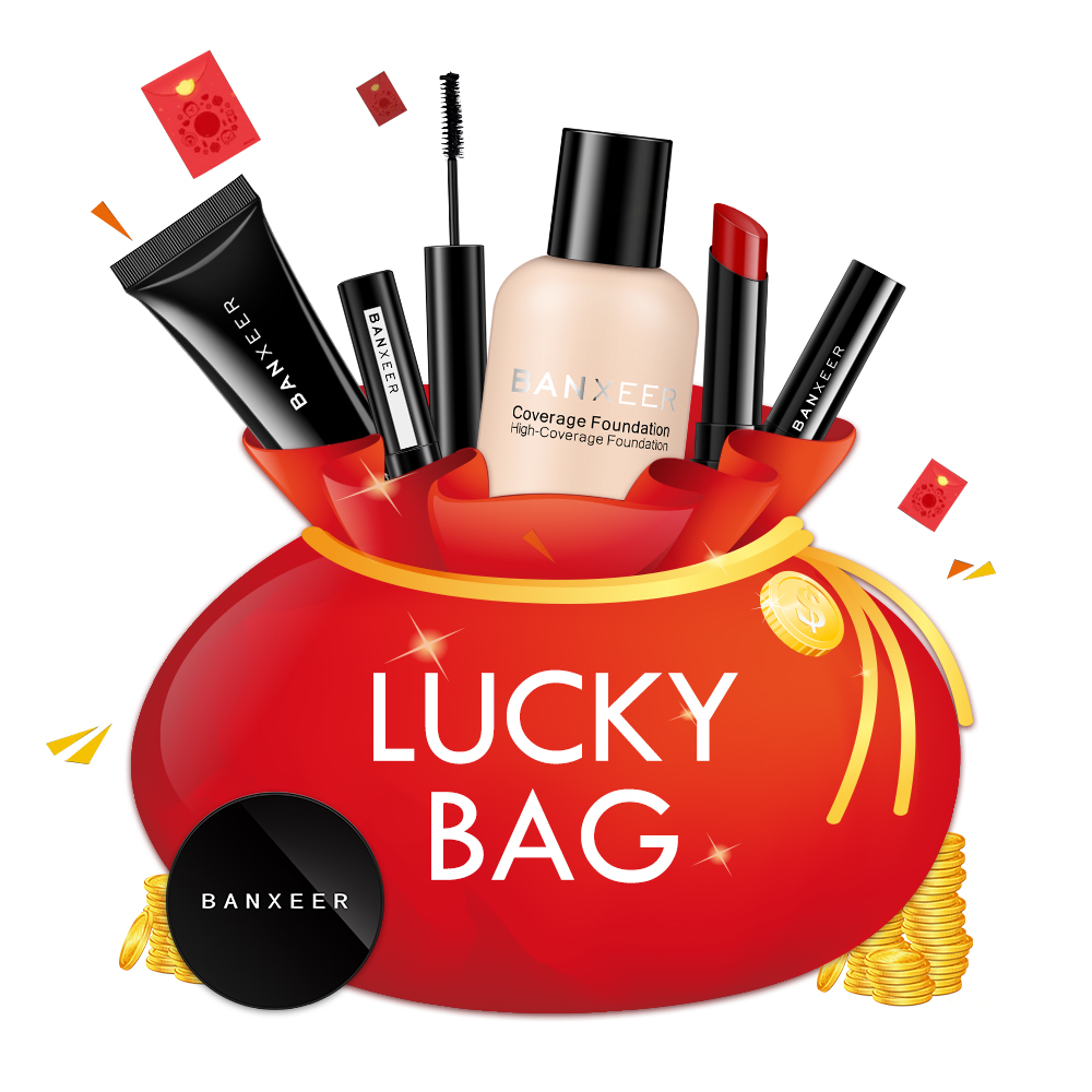 BANXEER Lucky Package 3pcs In One Set Makeup Set Cosmetic Kit