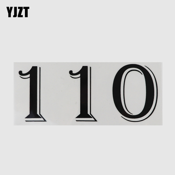 YJZT 17.1CM×7.2CM 110 Number Vinyl Speed Limit Road Traffic Slow Down Car Stickers Decal 13D-0586 image