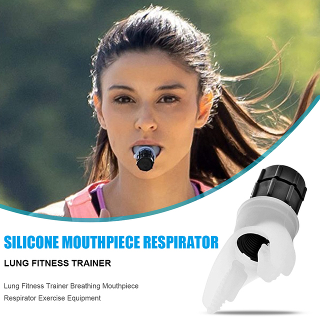 Fitness Trainer Lung Training Equipment Silicone Breathing Mouthpiece Respirator for Household Healthy Care Decoration 1
