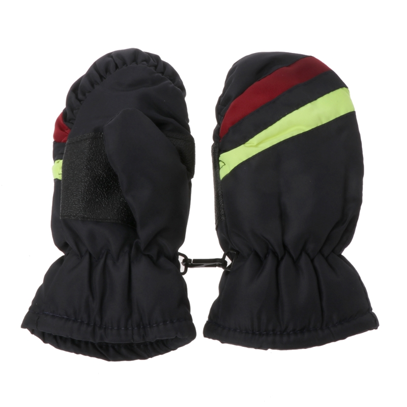 2-5y Baby Mitten Winter Kids Boys Girls Outdoor Warm Gloves Waterproof Windproof Y98F