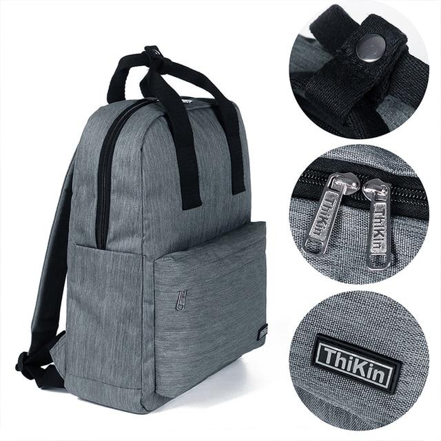 THIKIN Unisex Laptop Backpack 15 Inch Rucksack SchooL Bag Travel Waterproof Backpack Men Notebook Computer Bag Business 3