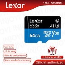 Lexar-tarjeta Micro sd de 16gb, 32gb, 64gb, hasta 95 M/s, Clase 10, 633x, UHS-I, 128gb, tarjeta de memoria Flash TF con lector de tarjetas