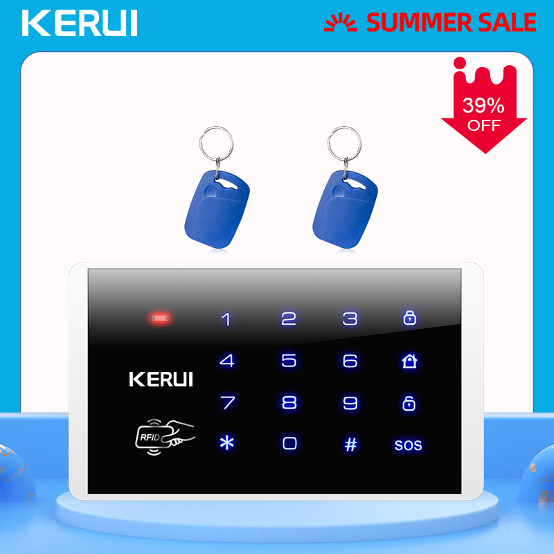 KERUI K16 RFID Touch Wireless Password Burglar Access Control System Arm Disarm Keypad For KERUI PSTN GSM WiFi Alarm Systems