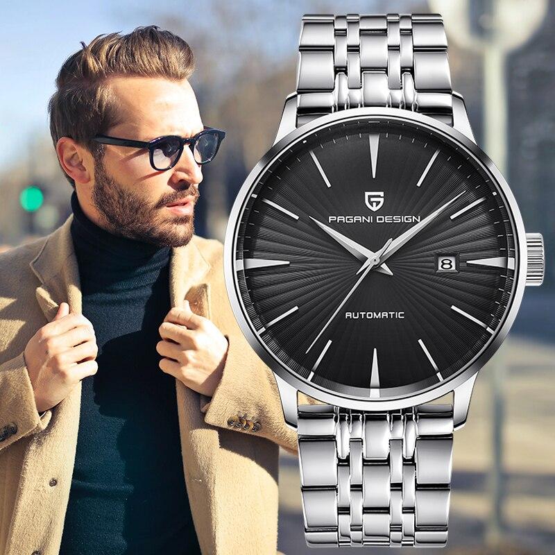 PAGANI Design men watch mechanical business wrist watch fashion simple mens watch automatic waterproof sport watches for men new
