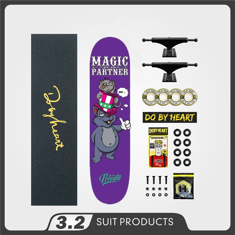 PRIVATE Completed Quality Canadian Skateboard Deck 8/8.125/7.875 Skate Board Wheels 52mm & Trucks Skateboarding Accessories