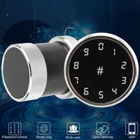 door lock Card Reader Password Security Door lock Bluetooth Digital APP Smart Sphere Silver