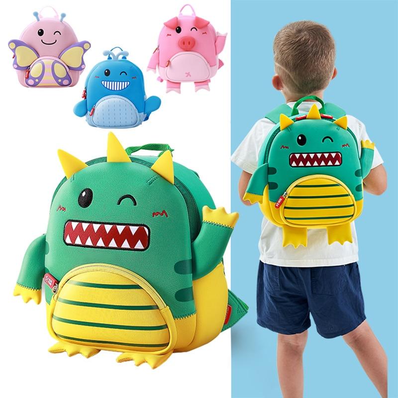 2019 New Happy Dinosaur Boys School Bags Waterproof Kindergarten Child Kids Backpacks Girls Schoolbag Plecak Szkolny