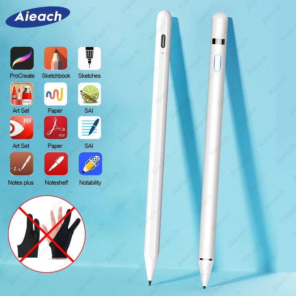 Pour iPad crayon stylet pour iPad Pro 11 12.9 10.2 2019 9.7 2018 Air 3 mini 5 paume rejet dessin tactile stylo pour Apple crayon
