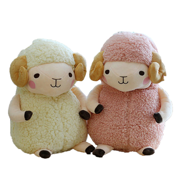 Little Sheep Doll Plus Toy Little Sheep Doll White Pink Doll Sleeps Pillow cute powder super fun lazy sheep birthday present printio pink sheep