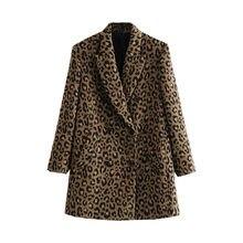 Женский Повседневный пиджак с леопардовым принтом новый женский