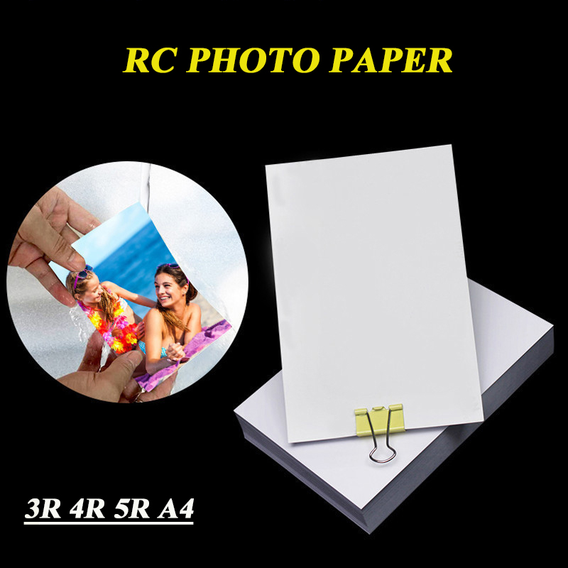RC Photo Paper 3R 4R 5R A4  Waterproof Top Grade High Glossy Matte 260g  Wedding Photo Studio Dedicated  Photographic Paper