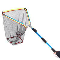 Fishing Net 200cm / 79 Inch Telescopic Aluminum Fishing Landing Net Fish Net with Extending Telescoping Pole Handle