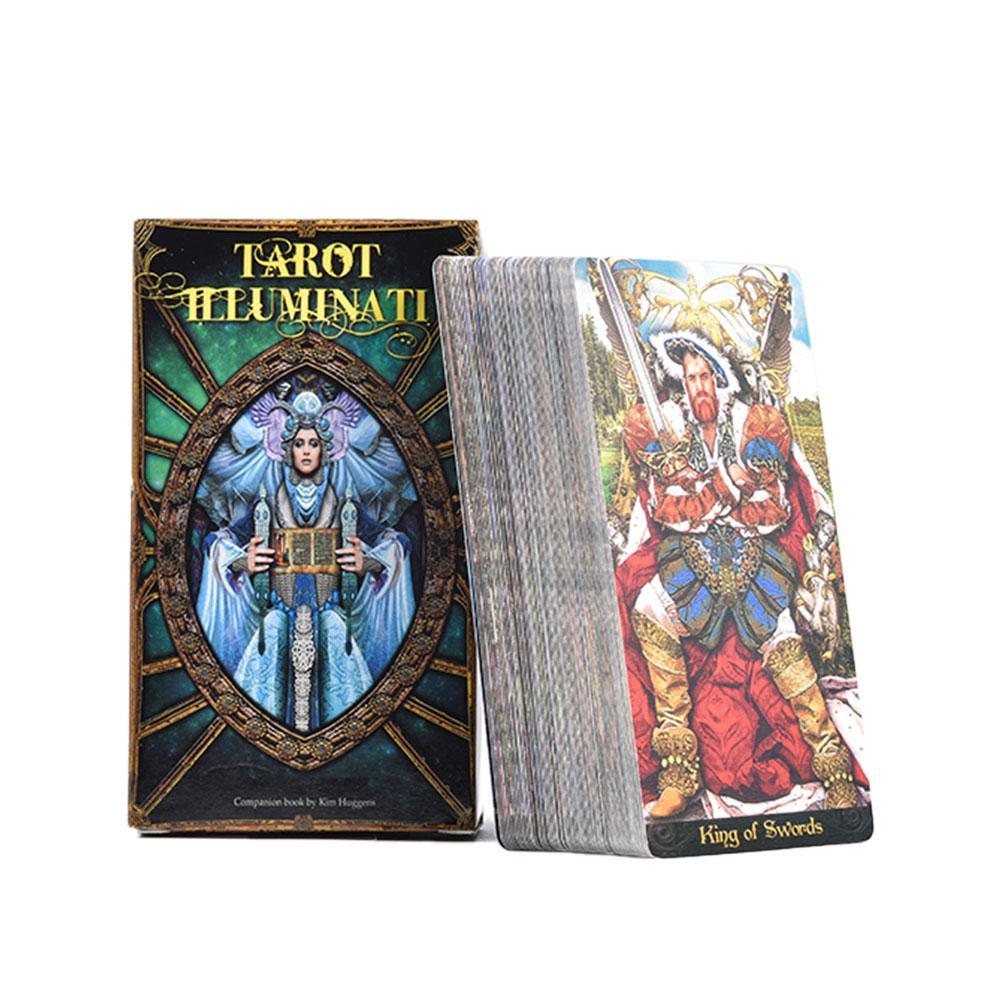 Full English Tarot Cards 78 Tarot Illuminati Kit Game Tarot Cards Interaction Gadget For Families Children Kids Playing
