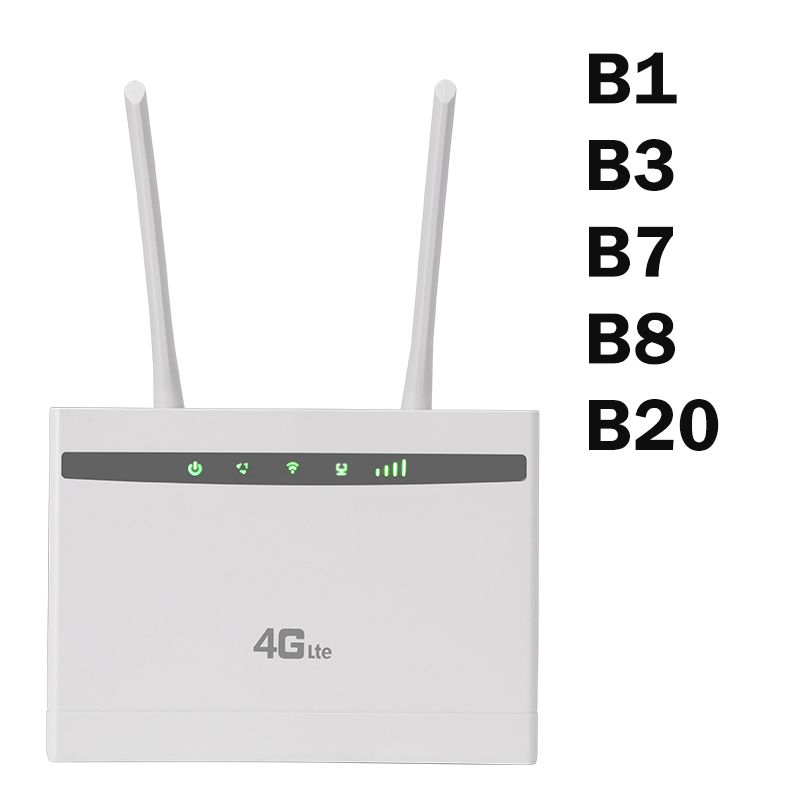 Europe 3g 4g Router LTE B1 B3 B7 B8 B20 LTE Signal Amplifier 4g LTE Signal Booster 4g WIfi Router With SIM Card Slot