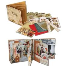 Eno Greeting 6inch Vintage Scrapbook Kit For Family/Friend/Kids DIY Polaroid Album Retro Scrapbooking Photo Album