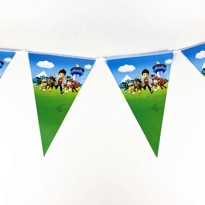 Image 3 - 1pcs decorations cartoon dog paws patrolling disposable tablewares tablecloth theme party birthday event decor home map supplies-in Disposable Party Tableware from Home & Garden