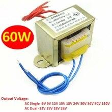 Transformer-Input EI66 220V Power Copper-Core Output Single/dual 6V 9V 12V 15V AC 18V