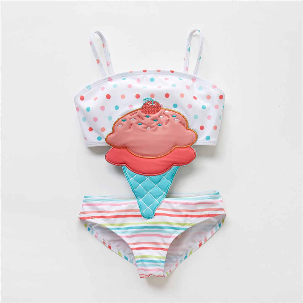 KAVKAS lato nowe słodkie Bikini dziewczynka syjamski kreskówka pszczoła łabędź strój kąpielowy jednoczęściowy