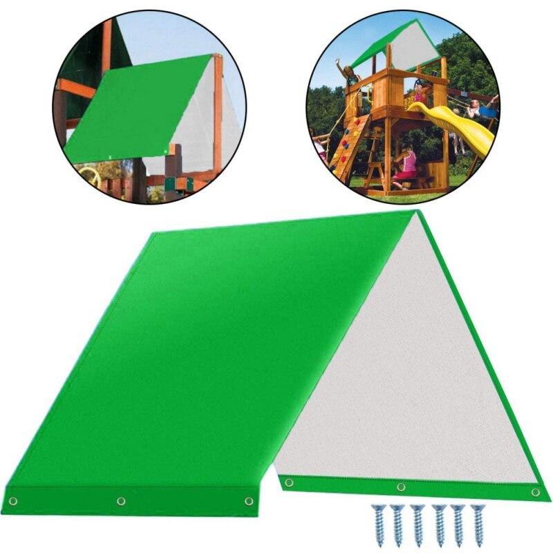 132 X 226cm Swing Hammock Kit Replacement Tarpaulin Children's Playground Roof Canopy Outdoor Sun Protection Rain Cover Waterpro(China)