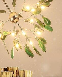 Image 5 - Moderno led luz do candelabro de jantar lâmpada pendurada ouro azul lustre em sala crianças cozinha foyer sala estar quarto decoração lâmpadas