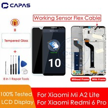 For Xiaomi Mi A2 Lite LCD Display + Frame 10 Touch Screen For Xiaomi Redmi 6 Pro Display Mi A2 Lite LCD Replacement Spare Parts