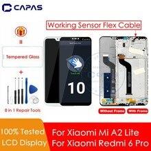 Recambio de pantalla LCD para Xiaomi Mi A2 Lite, Marco y 10 pantallas táctiles
